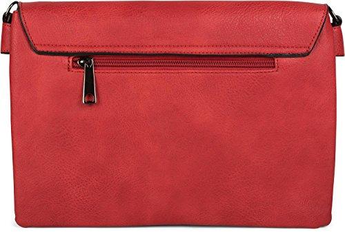 sac femmes clous bandoulière couleur à Pochette Rouge soirée avec 02012227 main styleBREAKER sac de anse Or PUwapn8
