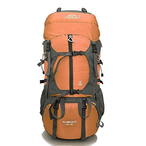 Diamond Candy Outdoor Hiking Climbing Backpack Daypacks Waterproof Mountaineering Bag 65L Unisex High-capacity Travel Bag