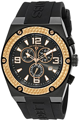 Swiss Legend Throttle (Swiss Legend Men's 30025-BB-01-RB Throttle Stainless Steel and Black Silicone Watch)