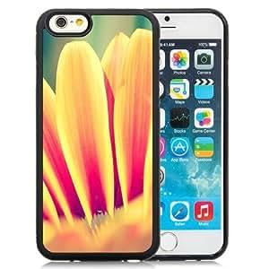 NEW Unique Custom Designed iPhone 6 4.7 Inch TPU Phone Case With Orange Daisy Petals_Black Phone Case