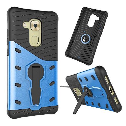GR Para Huawei Nova Plus / Maimang 5 Hybrid Tough Rugged Dual Layer con cubierta de la caja de soporte de ajuste ( Color : Blue ) Blue