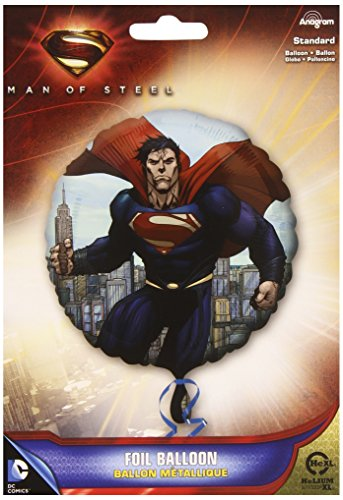Anagram 18 Inch Circle Foil Balloon - Superman Man Of (Lois Lane Halloween Costumes)