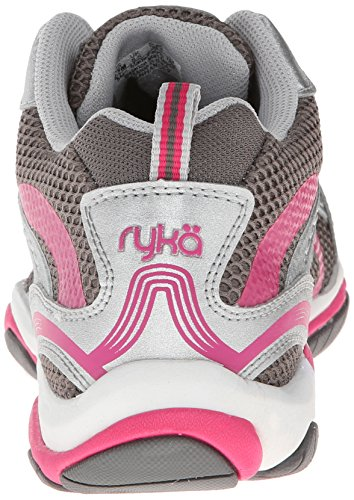 RYKA Frauen verbessern 2 Cross-Training Schuh Metallischer Stahl Grau / Chrom Silber / Zuma Pink