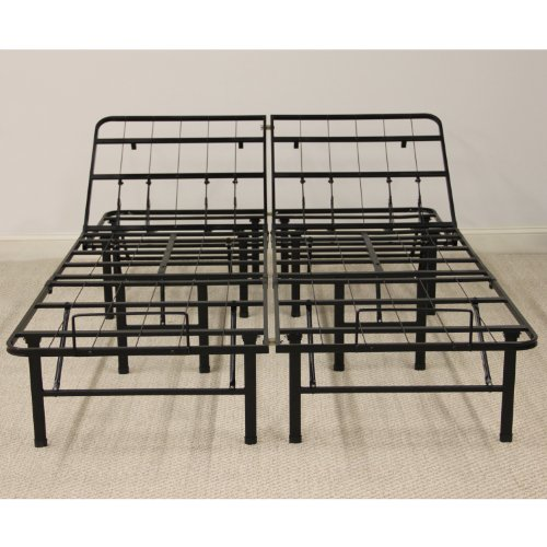 Classic Brands Adjustable Heavy Duty Metal Bed Frame/Mattress Foundation or Box Spring,...