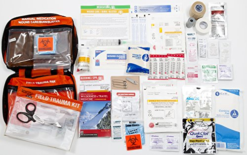 Adventure Medical Kits Sportsman Series Bighorn First Aid Kit, QuikClot Stops Bleeding Fast, Treat Bullet Wounds, Detachable Hunting Field Trauma Kit, Petrolatum Gauze, High Visibility Orange, 1lb 8oz