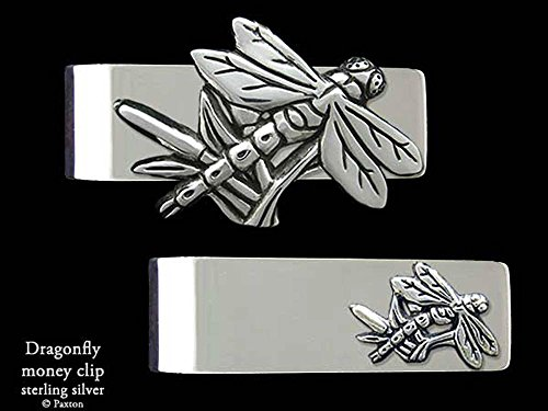 Dragonfly Money Clip in Solid Sterling Silver Hand Carved, Cast & Fabricated by Paxton by Paxton Jewelry