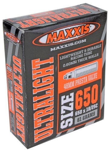Maxxis Bicycle Tubes (Ultralight 650x18/25c, Presta 48mm Valve 61g)