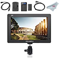 Feelworld FH7 7 Full HD Camera LCD Monitor 4K HDMI Output for Canon Nikon DSLR Camera, F550 Battery Kit Included