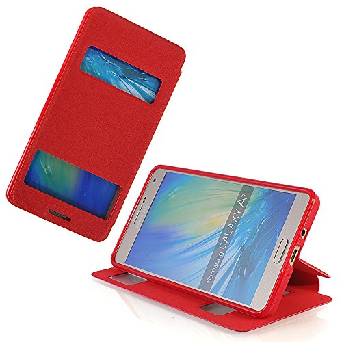 Ultra Slim Metal Case for Samsung Galaxy A7 (Red) - 9