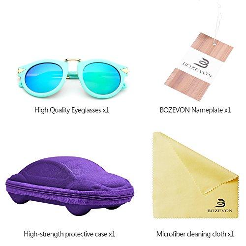 BOZEVON Mode Metal Arrow Décoration Garçons et Filles Lunettes de soleil Style c