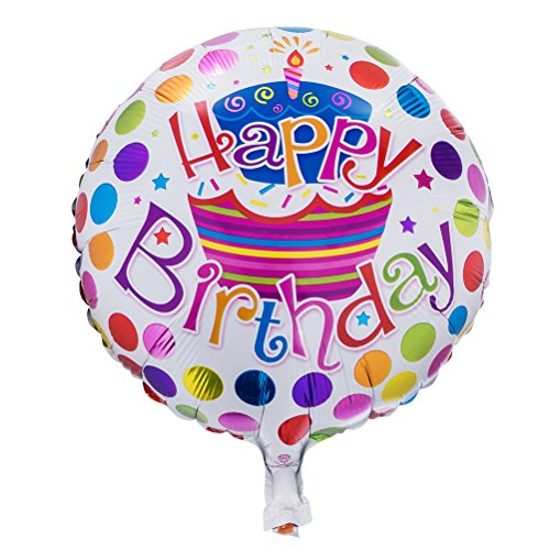 Happy Birthday Foil Mylar Helium Balloon, 18