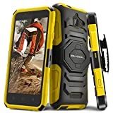 Evocel® Coolpad 3622A [New Generation] Rugged Holster Dual Layer Case [Kickstand][Belt Swivel Clip] Designed For Coolpad 3622A (2016 Release) T-Mobile / MetroPCS, Yellow