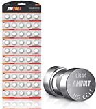 LR44 AG13 A76 Battery - [Ultra Power] Premium Alkaline 1.5 Volt Non Rechargeable Round Button Cell Batteries for Watches Clocks Remotes Games Controllers Toys & Electronic Devices (50 Pack)