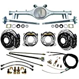 "NEW CURRIE 64-66 GM A-BODY REAR END WITH WILWOOD DISC BRAKES, 11"" DRILLED ROTORS, BLACK CALIPERS, BRAKE LINES, PARKING BRAKE CABLES, AXLES, BEARINGS, FOR 1964, 1965, 1966 CHEVY CHEVELLE, EL CAMINO"