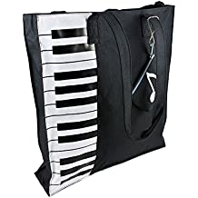 MyLifeUNIT Piano Tote Bag, Nylon Piano Bag for Piano Books Piano Lessons