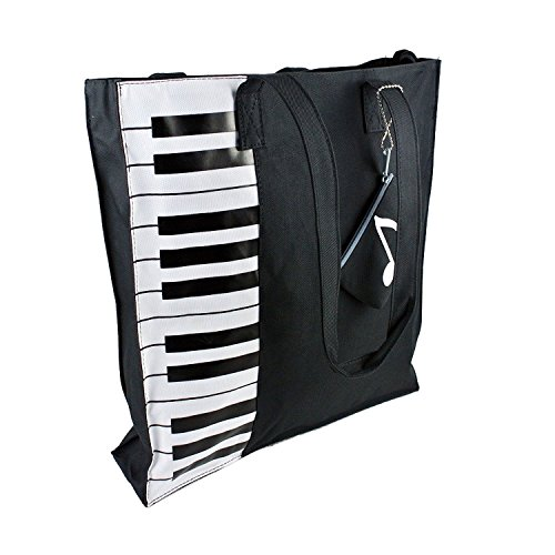 MyLifeUNIT Piano Tote Bag, Nylon Piano Bag for Piano Books Piano Lessons