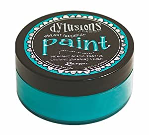 Ranger Dyan Reaveley's Dylusions Paint, 2 oz, Vibrant Turquoise