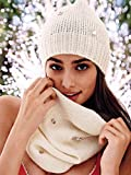 Victoria's Secret Women's Hat & Scarf set White
