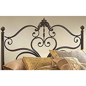 Hillsdale Furniture 1756HKR Newton Headboard with Rails, King, Antique Brown Highlight