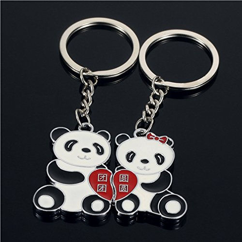 DreamsEden China National Treasure Animal Panda Couple Keychain (With Gift  Box) Lovely Pendant Lovers