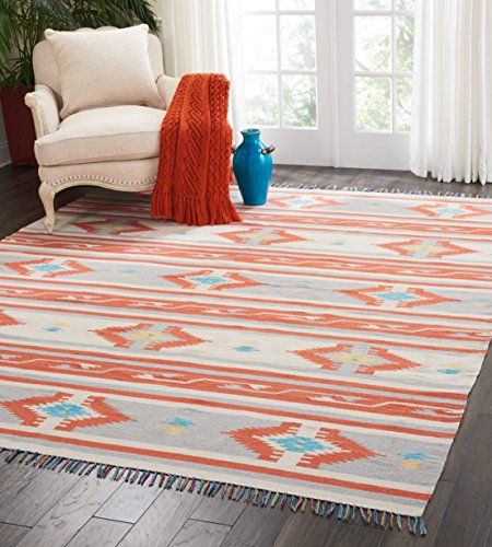 Nourison BAJ03 Baja Tribal Area Rug 8 10 Feet, 8'x10' , IV/GREY