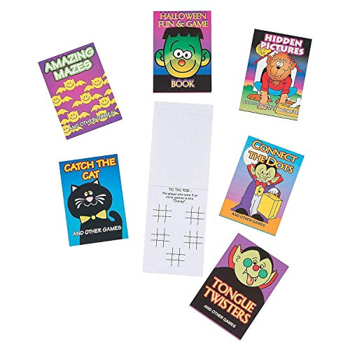 HAPPY DEALS ~ 36 Halloween Mini Activity Books 3.5 inch - Halloween Toys and Party Favors, Teal Pumpkin fillers