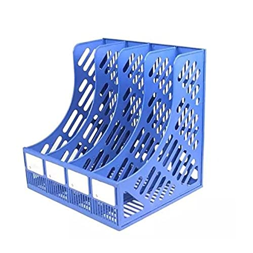 Lovely Glamorway Plastic 4 Section Divider File Rack Paper Magazine Holder  Multifunction Storage Hanger Home Office