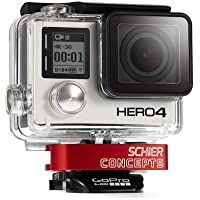 Schier Clamp for Action or GoPro HERO cameras (RED) | Innovative, Secure Thumbscrew R...