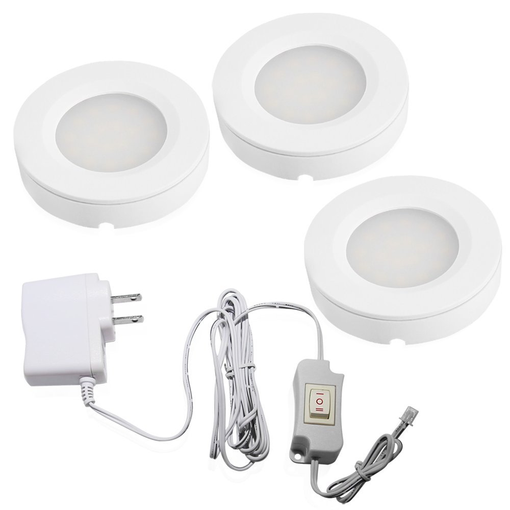 kitchen cabinet recessed lighting set of 3 led cabinet lighting kit 2watt warm white 5679