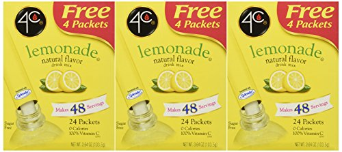 (4C Totally Light 2 Go Lemonade, Sugar Free, 20-Count Boxes (Pack of 3))