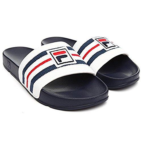 Fila Men's Drifter Slide Sandals, Navy, Rubber, Microfiber, 12 M