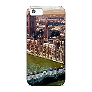 Flexible Tpu Back Case Cover For Iphone 5c - London From Above