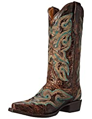 Stetson Western Boots Womens Distressed Brown 12-021-6105-0936 BR