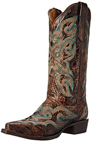 Women's Brown Stetson Vintage Distressed Western Boot 7d6qd