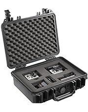 Mantona Outdoor foto beschermhoes M (geschikt voor DSLR-camera, GoPro actioncam, foto-apparatuur en nog veel meer, maat M, waterdicht, schokbestendig, stofdicht) zwart
