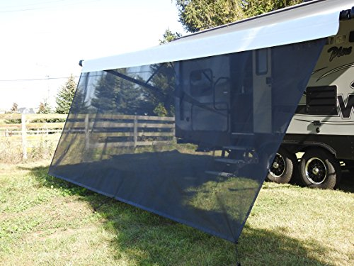 VroomTec recreational Home Awning Shade Panels, Excellent Recreational Vehicle Accessory, Cuts Out Blinding Sunlight Without Obscuring View, RV shade panel that Withstands the Elements (6X17, Black)