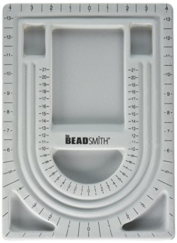 Bead Design in Beading Board and Gray Flock with Lid, 9 by 13-Inch