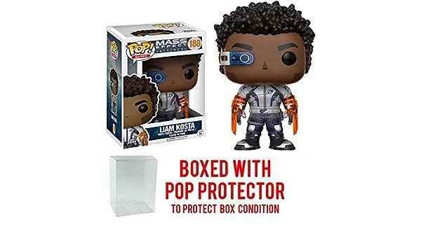 Funko Pop Bundled with Pop BOX PROTECTOR CASE Liam Costa Vinyl Figure Games: Mass Effect Andromeda