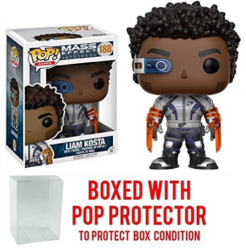 Funko Pop! Games: Mass Effect Andromeda - Liam Costa Vinyl Figure (Bundled with Pop BOX PROTECTOR CASE)
