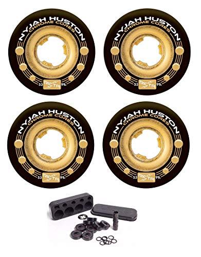 - Ricta Nyjah Huston 53mm Chrome Core 99a Skateboard Wheels +Independent Bearings