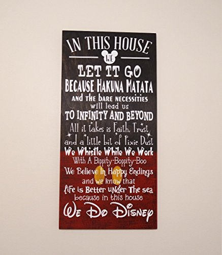 In This House We Do Disney Wooden Sign, Disney Sign, (Piglet House)