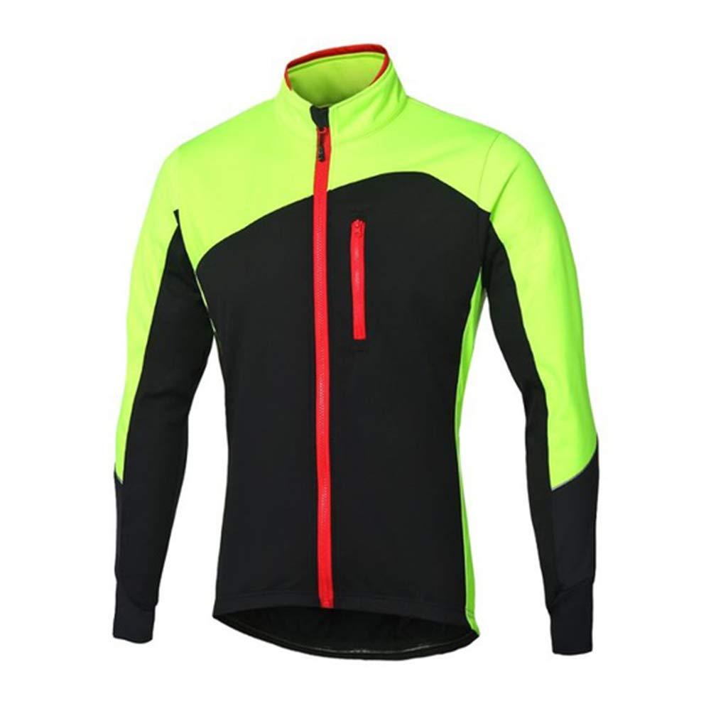 ZXCV Mann-Winter-Radjacke Thermal Fleece MTB Bike Jacke windundurchlässiger wasserdichter Fahrrad-Sofeshell Mantel Warm Reflektierende