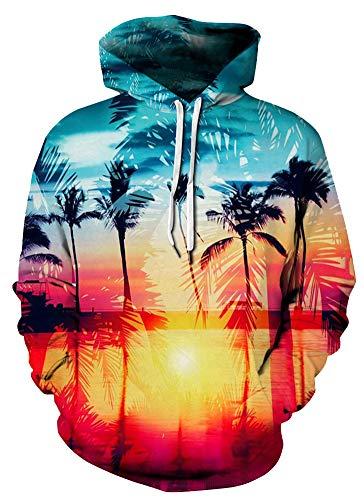 (Azuki Unisex Realistic 3D Digital Print Pullover Hoodie Hooded Sweatshirt S)