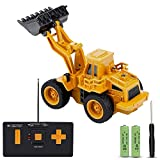 JoyGeek Remote Control Digger, Boys Toys Games Remote Controlled Car Tractor Mini Electronic Construction Excavator Kids Gift 1:64 Scale Die Cast Vehicles
