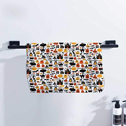 Philadelphia Halloween October 31 (Fakgod Halloween Gym Towel Halloween Icons Collection Candies Owls Castles Ghosts October 31 Theme Quick Drying and Highly Absorbent W27 x L14 Orange Yellow)