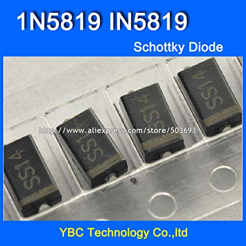 MAO YEYE 1000pcs/lot 1A/40V 1N5819 IN5819 SS14 SMA SMD Schottky Diode