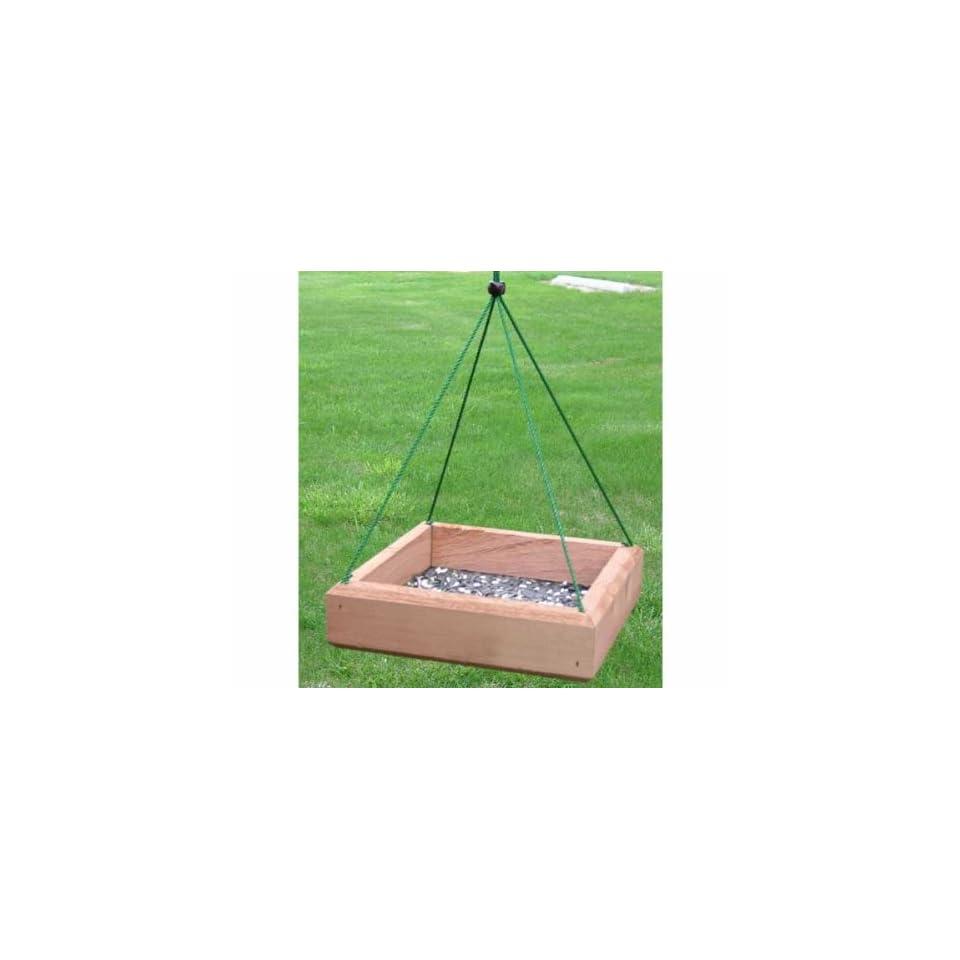 9 x 9 Hanging Tray Feeder   (Bird Feeders) (Seed Feeders)