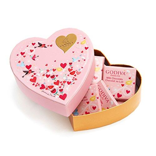 Godiva Chocolatier Valentine's Day Mini Heart Gift Box with 6 Pieces Gourmet Chocolate