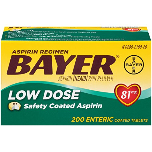 (Bayer Low Dose 81 mg Safety Coated Aspirin Tablets, 200 Count)