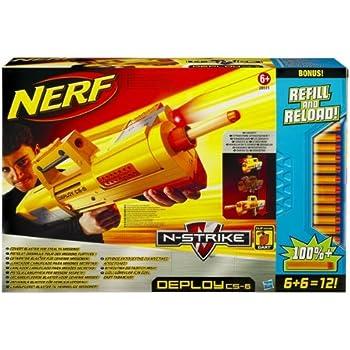 Amazon Com Nerf N Strike Deploy Cs 6 Dart Blaster